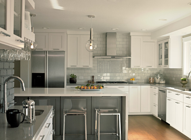 Sonneman Kitchen Traditional with Ceiling Lighting Glass Front Cabinets Kitchen Hardware Kitchen Peninsula