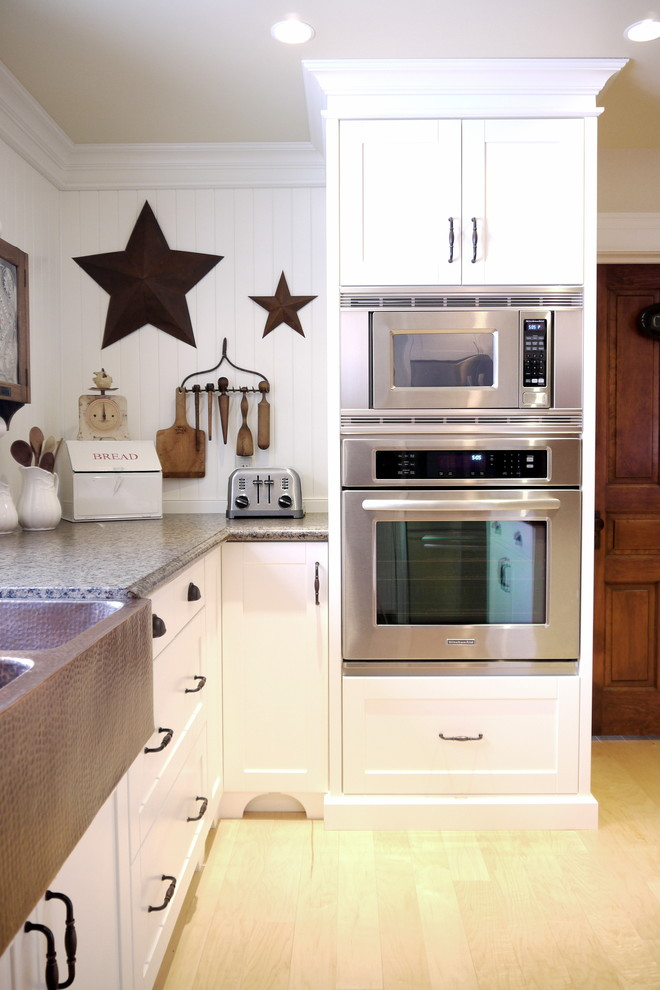 Space Saver Microwave Kitchen Farmhouse with Appliances Apron Sink Cabinet Cabinetry Custom Custom