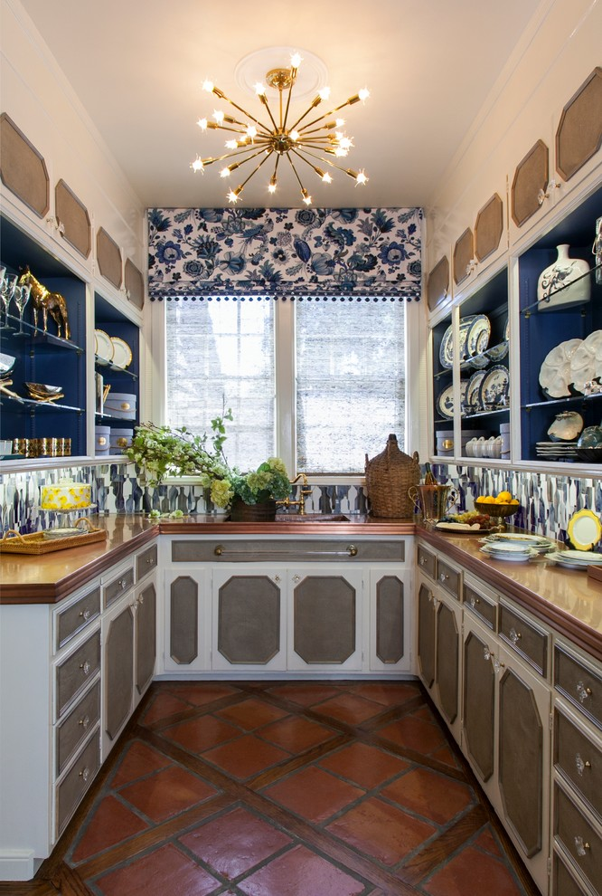 sputnik light Kitchen Traditional with blue accents blue and white blue and