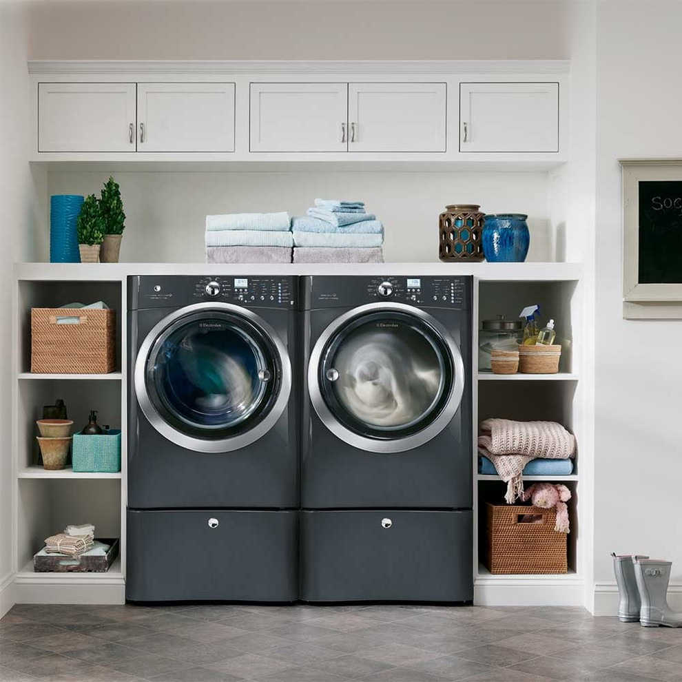 Stackable Washer Dryer Laundry Room Transitionalwith Categorylaundry Roomstyletransitional
