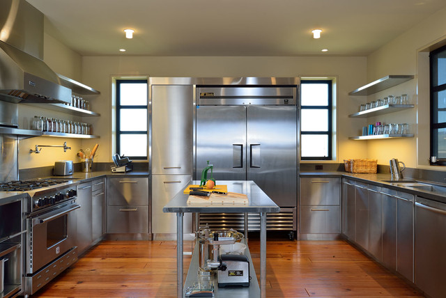 Stainless Steel Appliance Cleaner Kitchen Contemporary with Kitchen Appliances Kitchen Cart Kitchen Counter Metal Shelves Off White