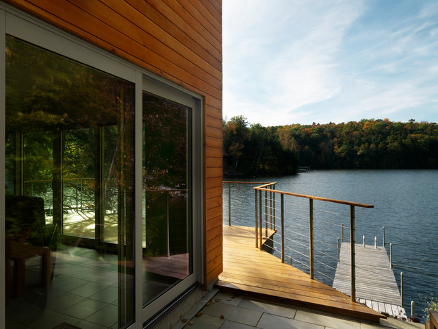 Stainless Steel Cable Railing Patio Modern with Cable Railing Dock Exterior Lake House Landscape Patio Patio