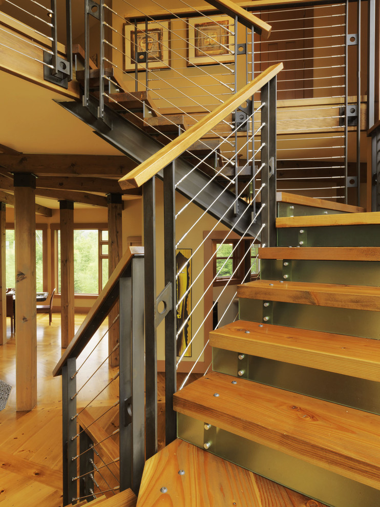 Stair Railing Ideas Staircase Contemporary With Knotty