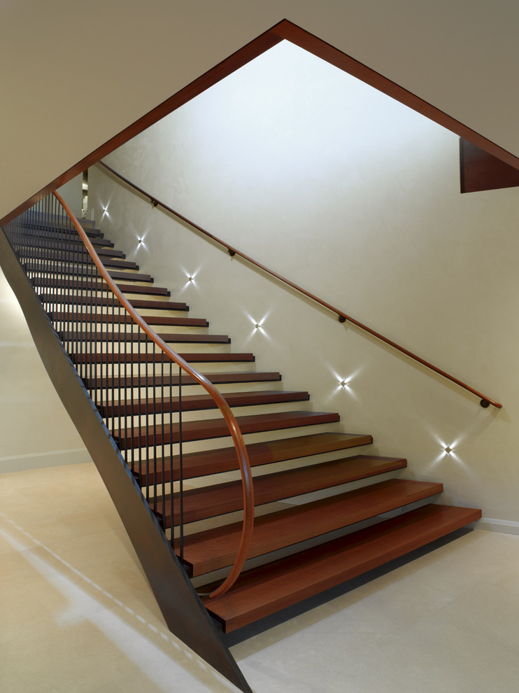 Stairwell Lighting Staircase Contemporary with Banister Handrail Minimal Open Stairs Railing Stair