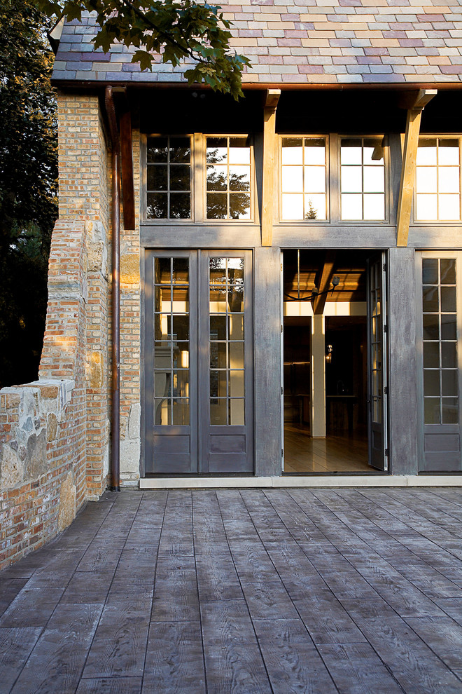 Stamped Concrete Patterns Entry Rustic with Chicago Concrete Deck Contemporary Doors Entrance Entry
