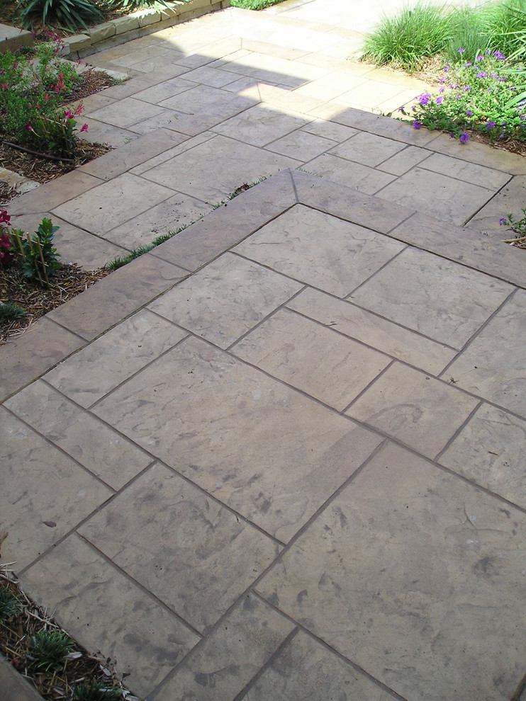 Stamped Concrete Patterns Landscape Modern with Curb Appeal Stamped Concrete Walk Way