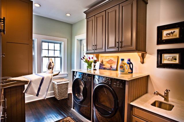 Steak Branding Iron Laundry Room Traditional with Artwork Beadboard Cabinets Built in Ironing Board Built In