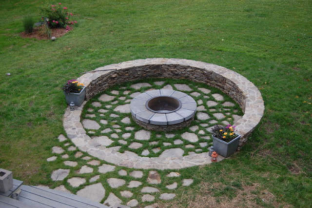 Stone Fire Pit Kit Landscape Traditional With Circle Fire Pit Patio Round  Round Fire Pit Round