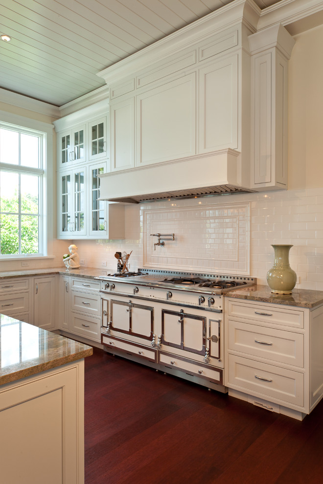 Stove Backsplash Kitchen Traditional with Allikristre Cabinetry Beachfront Custom Hood Dark Stained1