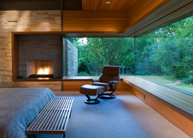 Stressless Chairs Bedroom Modern with Bedroom Bedroom Bench Cantilevered Corner Window Design Fireplace Glass