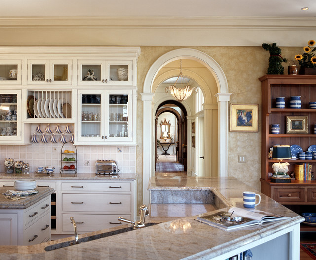 Suction Cup Hooks Kitchen Traditional with Arch Opening Arched Doorway Canister Set Glass Front Cabinets