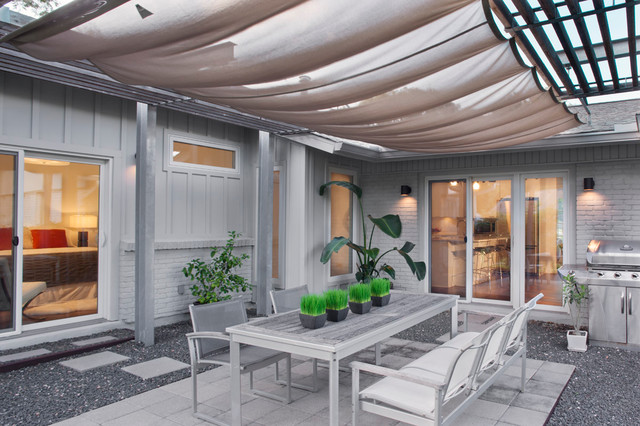 Sun Sail Shade Patio Contemporary with Addition Austin Bbq Brick House Builder Chair Concrete Pavers