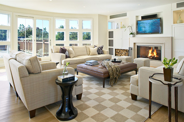Sunbrella Furniture Living Room Beach with Area Rug Built in Shelves Built in Storage Ceiling