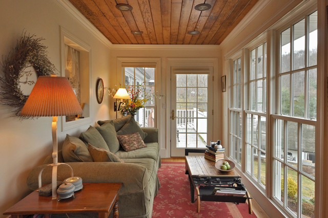 Sunroom Cost Sunroom Traditional with Glass Door Green Sofa Red Area Rug Wood Bench