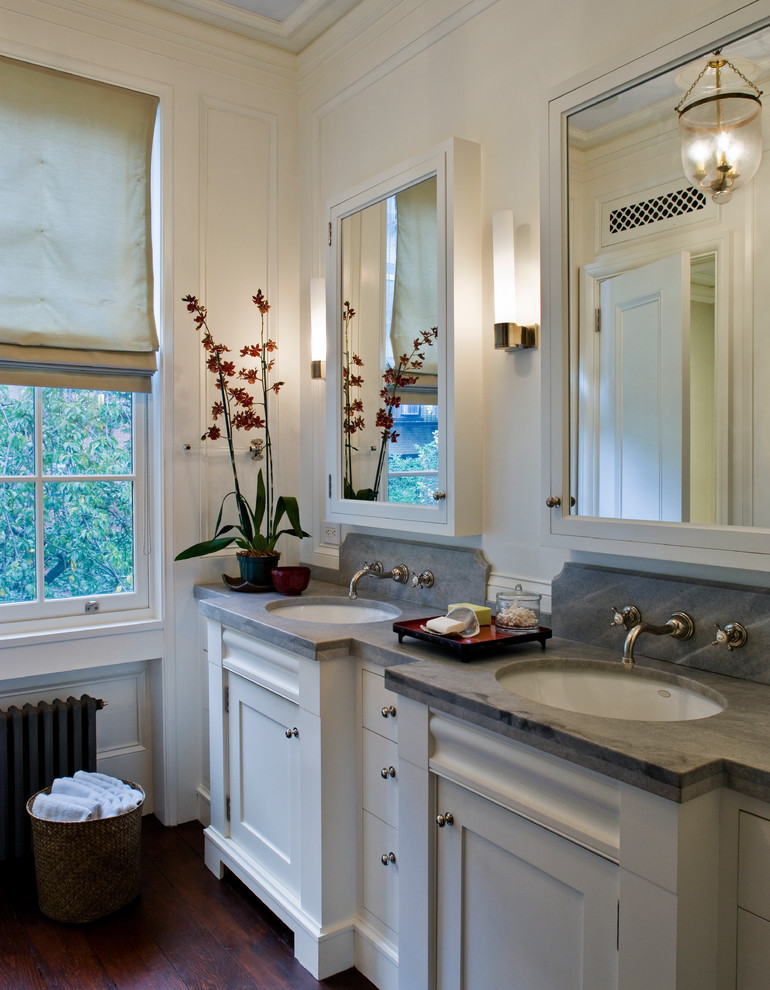 Surface Mount Medicine Cabinet Bathroom Traditional with Brooklyn Heights Double Sink Double Vanity Formal1