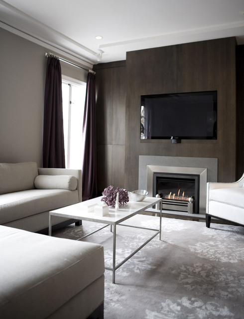 Surya Rug Living Room Contemporary with Accent Wall Built in Fireplace Glam Glamorous Gray Marble