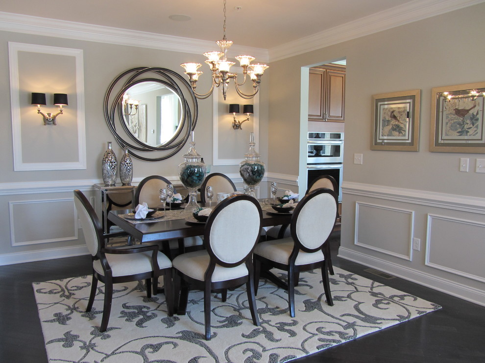 surya rugs Dining Room Contemporary with area rug artwork black and white dining