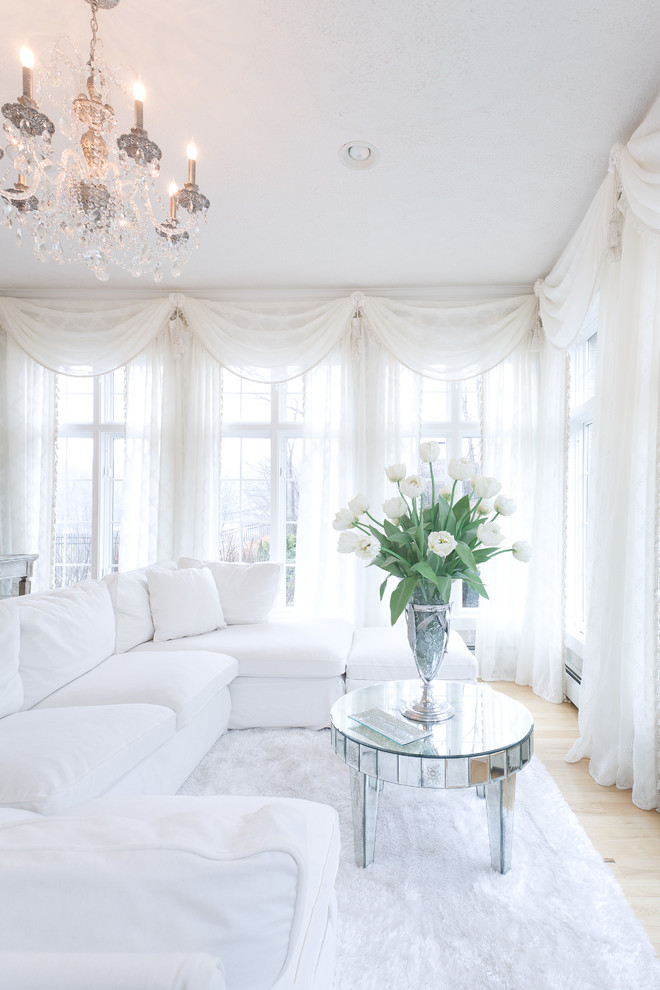 Swag Chandelier Living Room Traditional with Chandelier Mirrored Furniture Sectional White Couch Sheer