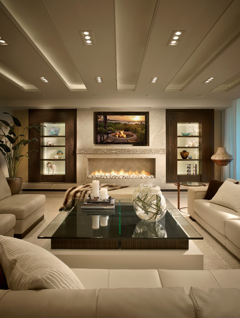 Sweet Jojo Designs Living Room Contemporary with Boca Raton Built in Shelves Ceiling Treatment Coffee Table
