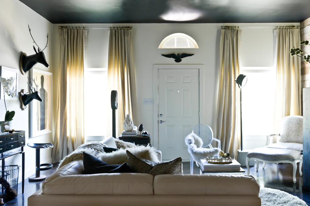 Switchplates Living Room Eclectic with Animal Busts Bergre Chair Black and White
