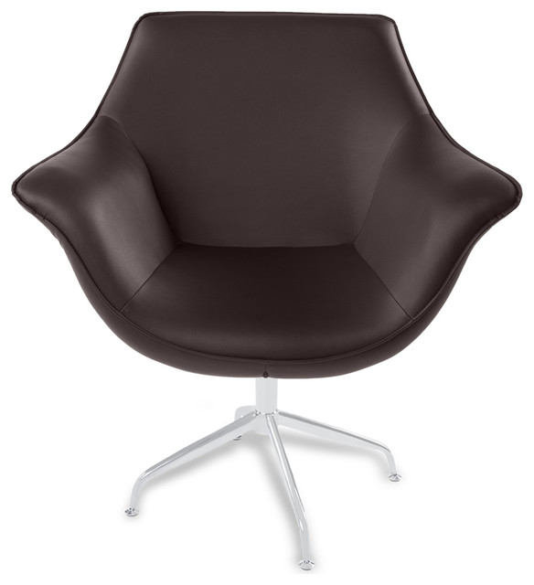 Swivel Armchair with Contemporary Desk Chair Faux Leather Leather Leather Chair Leatherette