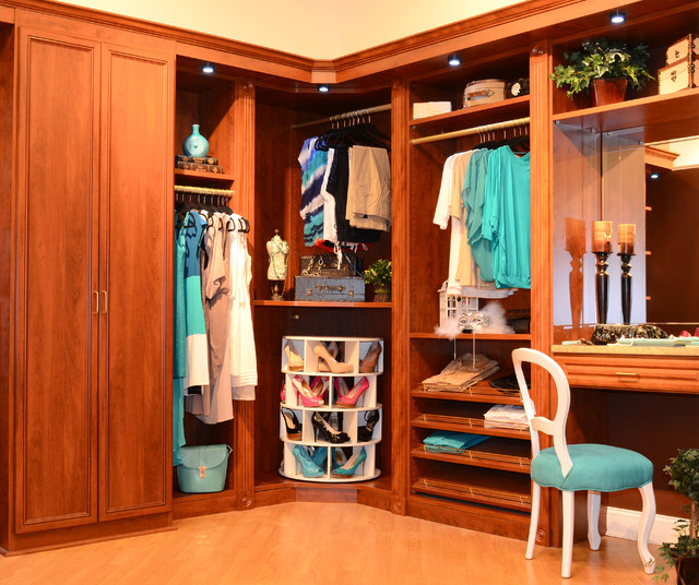 tabletop lazy susan Closet Traditional with beige wall blue side table built-in closet built-in closet