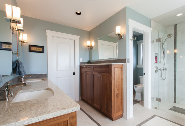 Tall Narrow Dresser Bathroom Transitional with Bathroom Storage Built in Cabinetry Counter Countertop Decorative Tile