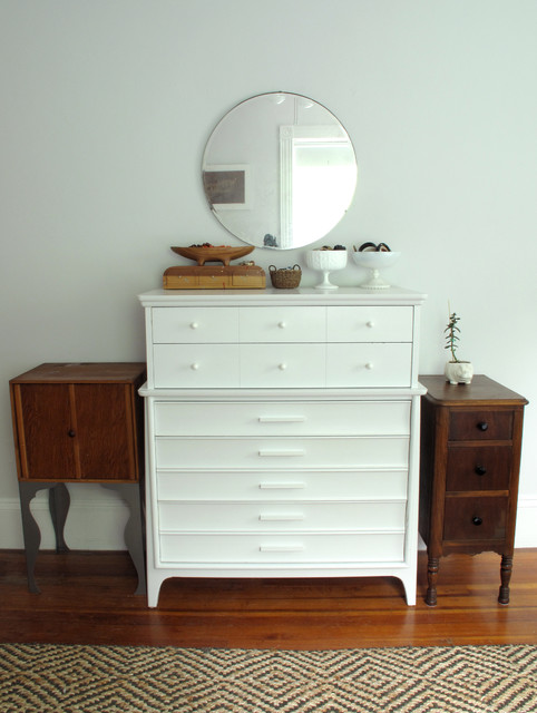 Tall Narrow Dresser Bedroom Eclectic with Dresser Jute Mirror Nightstand Painted Round White Wood