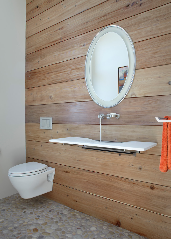 Tankless Toilet Bathroom Contemporary with Modern Faucet Modern Sink Omvivo Onda Single