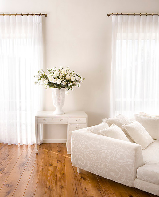 tension rods for curtains Bedroom Eclectic with clean curtains desk feminine flowers hardwood floors sectional simple