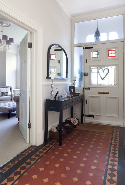 terracotta tiles entry victorian with console table hallway hallway mirror living room terracotta terracotta