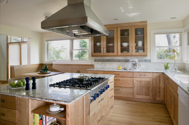 Thermador Cooktop Kitchen Contemporary with Banquette Breakfast Nook Ceiling Lighting Eat in Kitchen Glass