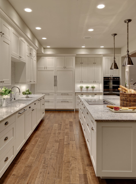 Thermador Induction Cooktop Kitchen Transitional with 10 Ft Ceiling Concetto Grohe Contemporary Shaker Cabinets Cottage