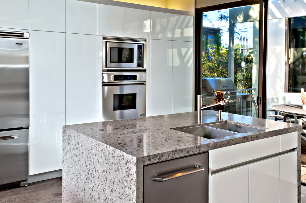 Thermofoil Cabinets Kitchen Modern with Compact Kitchen Glass Slider Gray Gray Stained