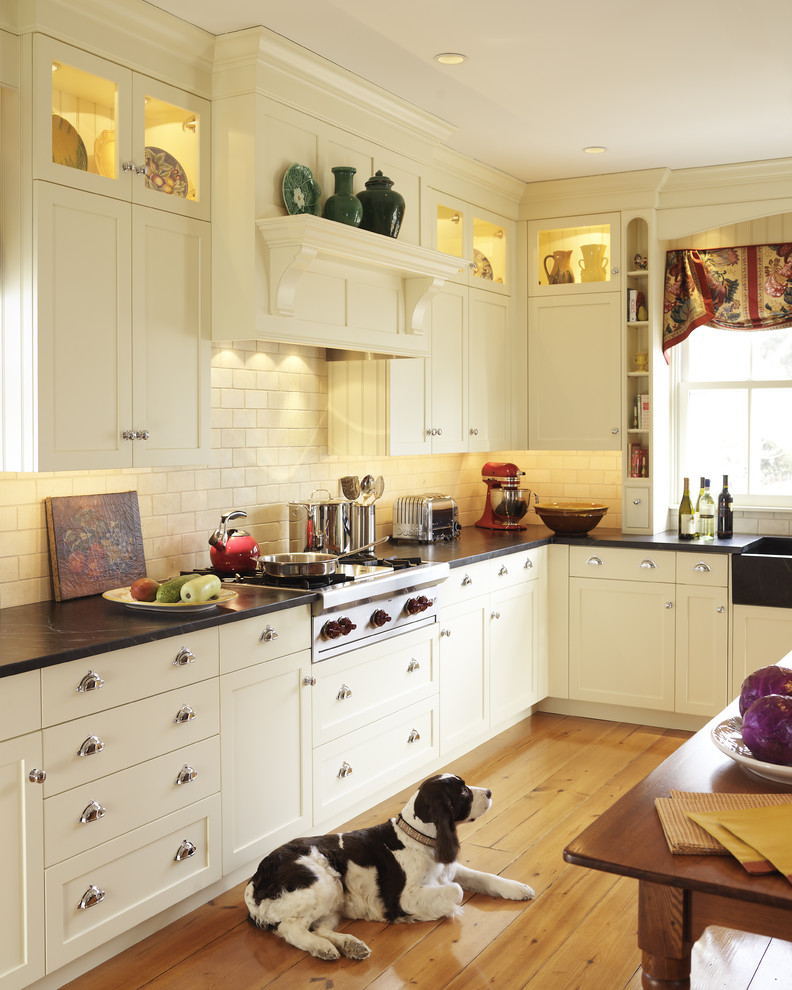 Thermofoil Cabinets Kitchen Traditional with Cookbook Shelf Cottage Display Shelves Door Handles
