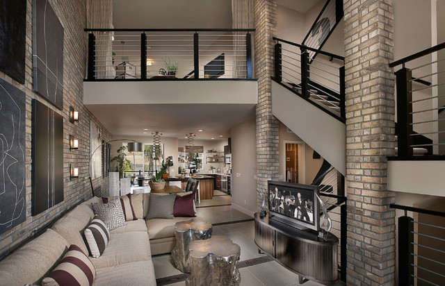 thin-brick-veneer-Living-Room-Contemporary-with-beige-painted-wall ...