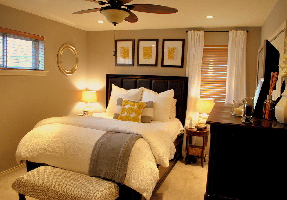 Thomasville Bedroom Set Bedroom Traditional with Bedside Table Ceiling Fan Ceiling Lighting Chest