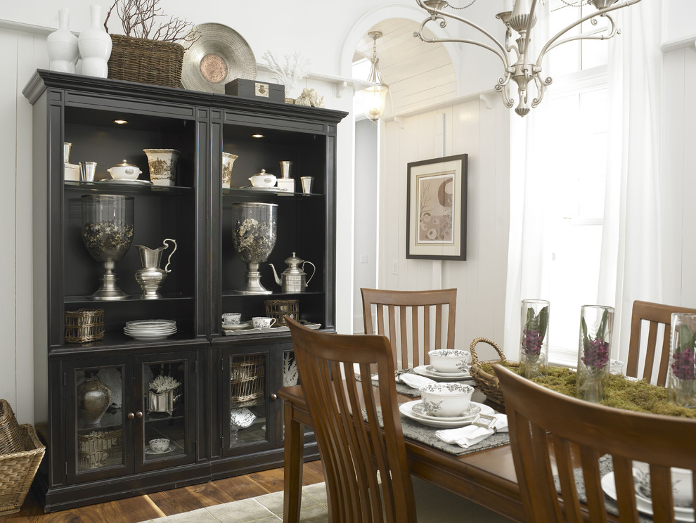 Thomasville Cabinets Dining Room Eclectic with Basket Black Cabinet Black Hutch Bowl Chandelier