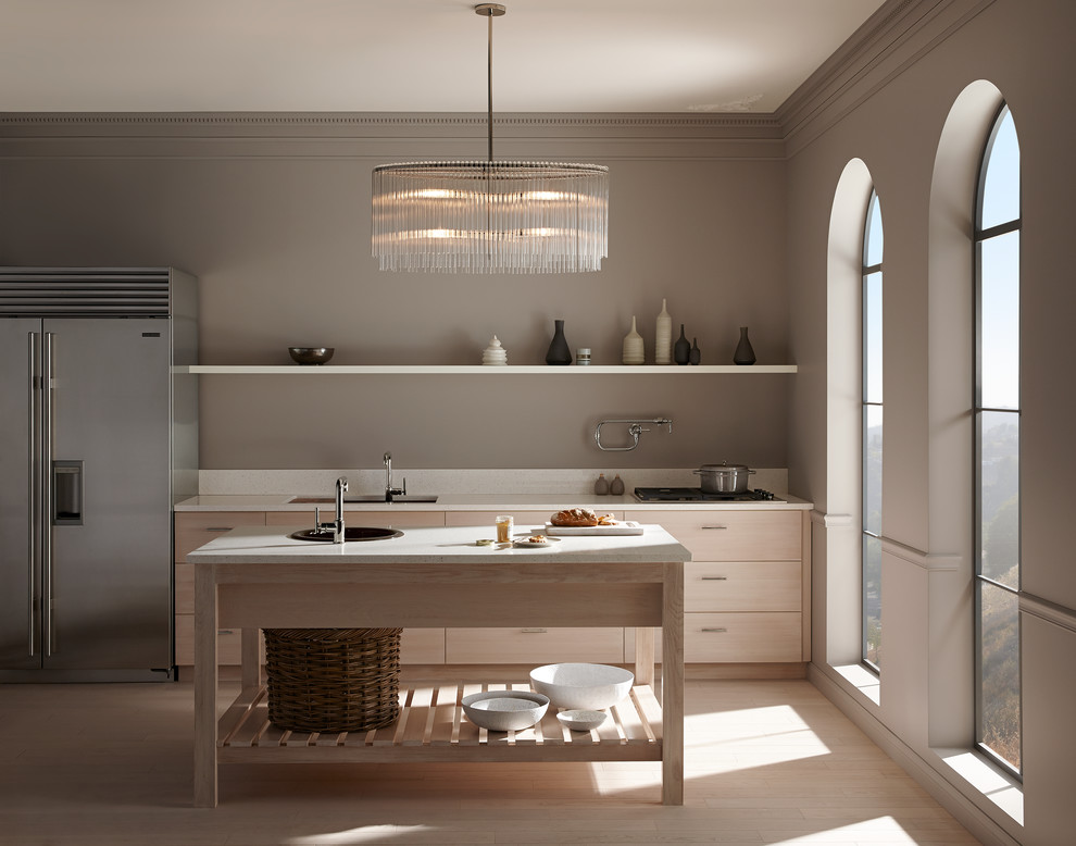 Thomasville Kitchen Cabinets Kitchen Contemporary with Benjamin Moore Paint 06 Wall Color Silver