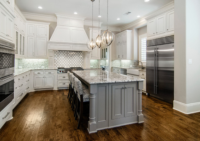 Thomasville Lighting Kitchen Traditional with Gray Island Nailhead Trim Pendant Lights Recessed Lighting Upholstered & thomasville-lighting-Kitchen-Rustic-with-american-rustic-design ... azcodes.com