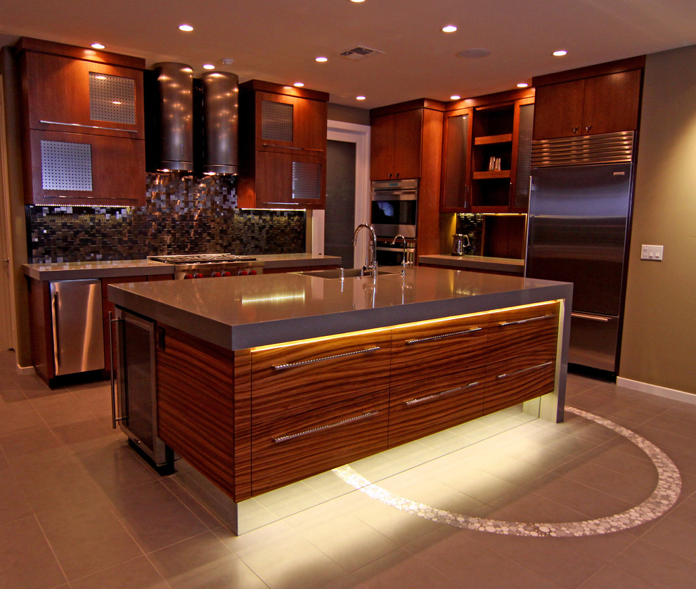 Toe Kick Heater Kitchen Contemporary with 12 X 24 Floor Tile Accent Tile