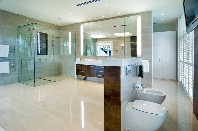 Toilet Bidet Combo Bathroom Contemporary with Bathroom Designers Bathroom Renovations Bathroom Renovators Melbourne Glass Shower