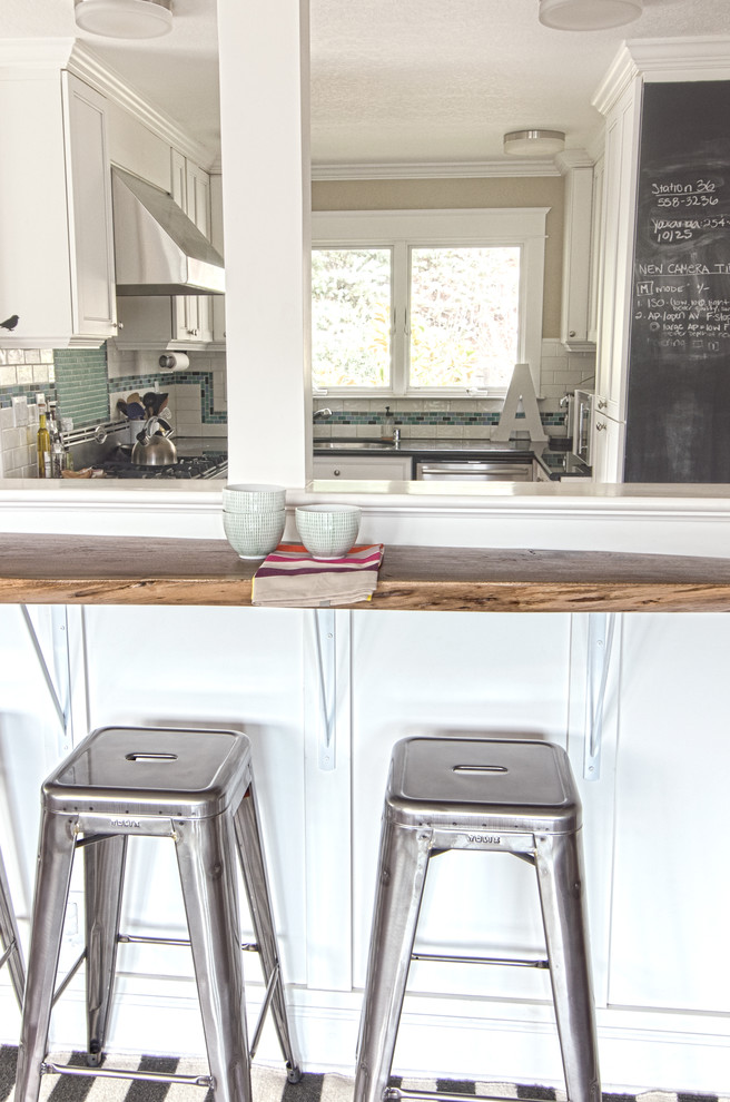 Tolix Stool Kitchen Contemporary with Breakfast Bar Chalkboard Eat in Kitchen North