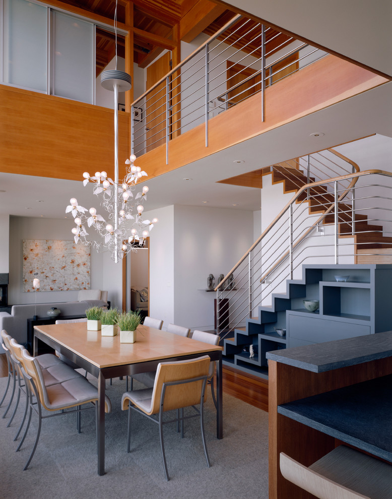 Tongue and Groove Paneling Dining Room Contemporary with Bamboo Flooring Bamboo Stair Wood Stair Bar