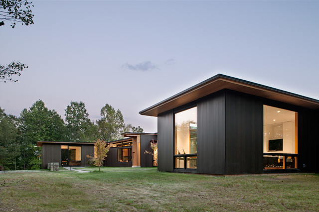 Tongue and Groove Siding Exterior Modern with Appalachian Mountains Asheville Blue Ridge Mountains Clean Contemporary Home