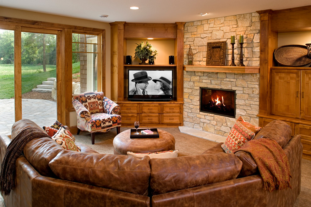 Top Grain Leather Sectional Basement Traditional with Brown Carpet Brown Leather Sectional Brown Leather
