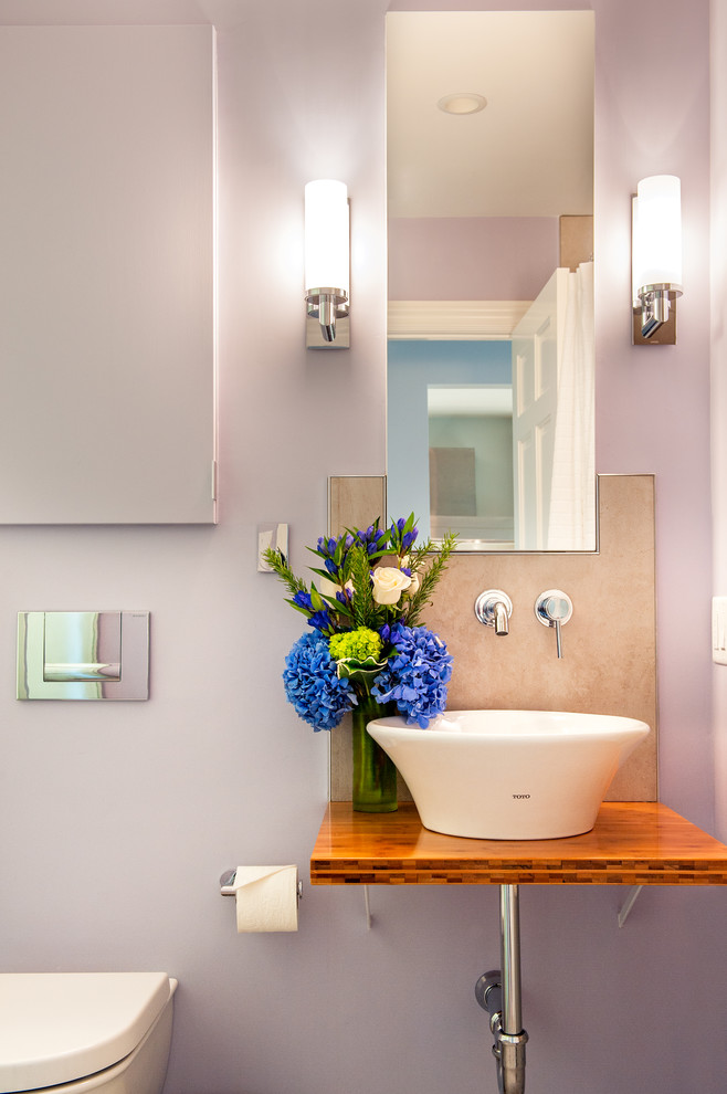 Toto Sinks Bathroom Contemporary with Bamboo Counter Top Floating Counter Top Medicine