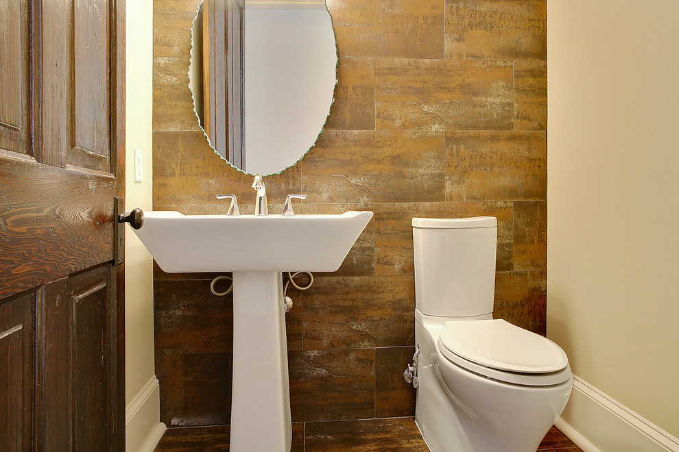 Toto Sinks Bathroom Contemporary with Oval Mirror Sink Stone Tile Tiled Floor