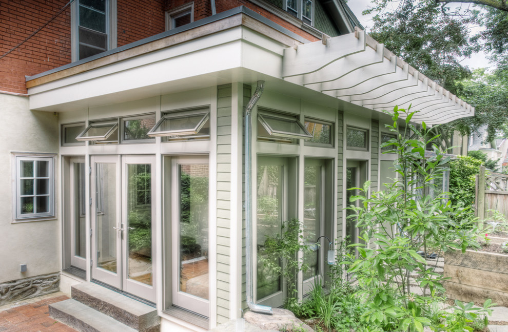 transom window Exterior Traditional with awning windows brick paving Clerestory eaves french