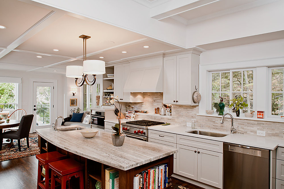 travertine tile backsplash Kitchen Traditional with aging in place Almost Infinity Duet atlanta